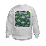Scabiosa Blue Kids Sweatshirt