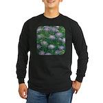 Scabiosa Blue Long Sleeve Dark T-Shirt