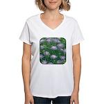 Scabiosa Blue Women's V-Neck T-Shirt