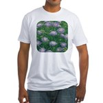 Scabiosa Blue Fitted T-Shirt