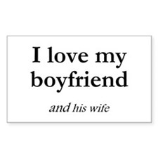 Boyfriend/his wife Rectangle Decal