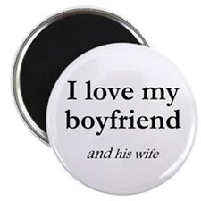 "Boyfriend/his wife 2.25"" Magnet (10 pack)"