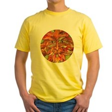 Yellow Autumn Greenman Adult T-Shirt