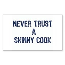 """A Skinny Cook"" - Rectangle Decal"