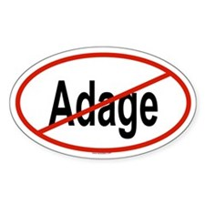 ADAGE Oval Decal