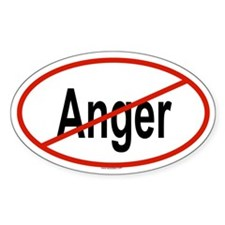 ANGER Oval Decal