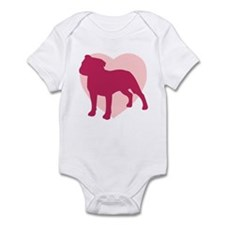 Staffordshire Bull Terrier Valentine's Day Infant
