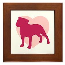 Staffordshire Bull Terrier Valentine's Day Framed