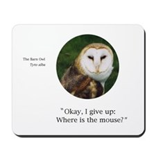Barn Owl Mouse Pad