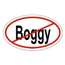 BOGGY Oval Decal