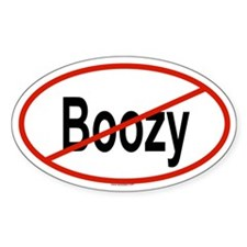 BOOZY Oval Decal