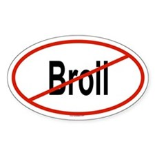 BROIL Oval Decal