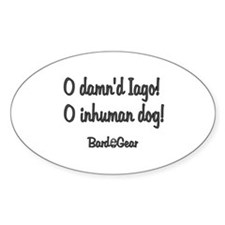 Inhuman Dog Oval Decal