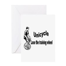 Cute Unicycle Greeting Card