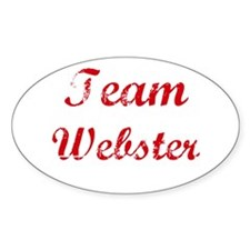 TEAM Webster REUNION Oval Decal