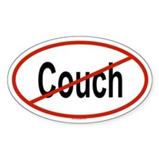 COUCH Oval Decal