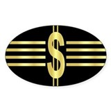 John Galt Dollar Emblem Oval Decal