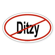 DITZY Oval Decal