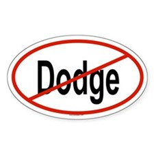 DODGE Oval Decal