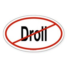DROLL Oval Decal