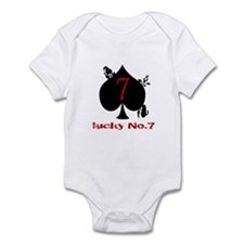 Lucky No. 7 Infant Bodysuit