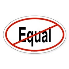 EQUAL Oval Decal