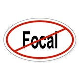 FOCAL Oval Decal