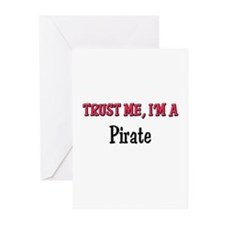 Trust Me I'm a Pirate Greeting Cards (Pk of 10)
