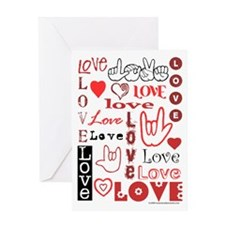 Love Words and Hearts Greeting Card
