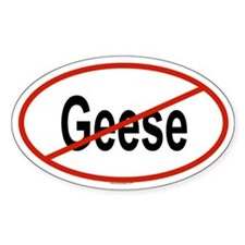GEESE Oval Decal