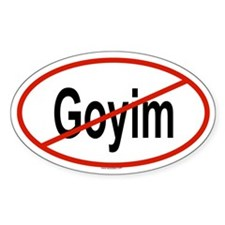 GOYIM Oval Decal