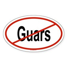 GUARS Oval Decal