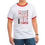 Love Words and Hearts Ringer T