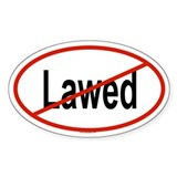 LAWED Oval Decal