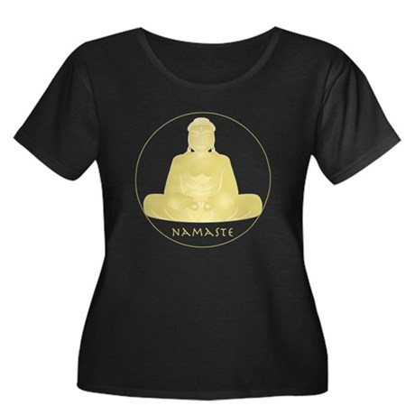 Yoga Buddha 2 Women's Plus Size Scoop Neck Dark T-
