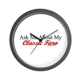 """Ask About My Fiero"" Wall Clock"