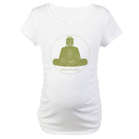 Yoga Buddha 3 Maternity T-Shirt