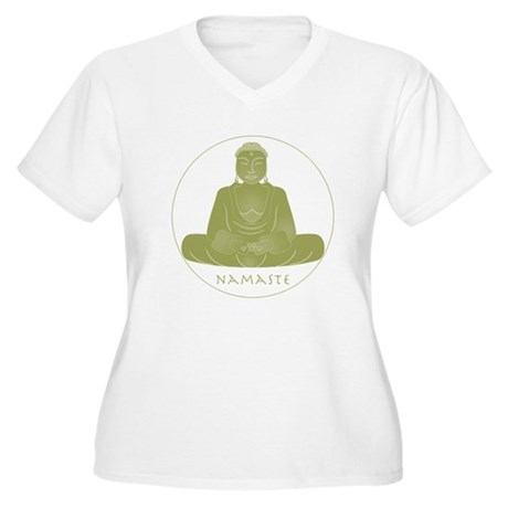 Yoga Buddha 3 Women's Plus Size V-Neck T-Shirt