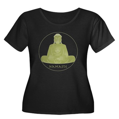 Yoga Buddha 3 Women's Plus Size Scoop Neck Dark T-