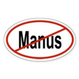 MANUS Oval Decal
