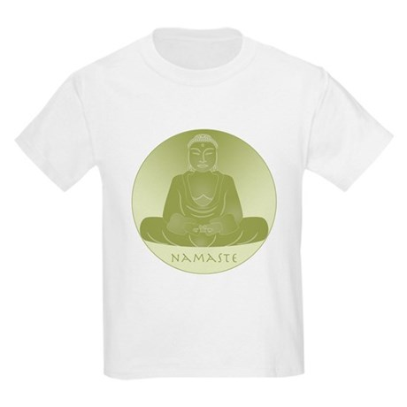 Yoga Buddha 1 Kids Light T-Shirt