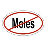 MOLES Oval Decal
