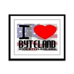 I Love Byteland Framed Panel Print