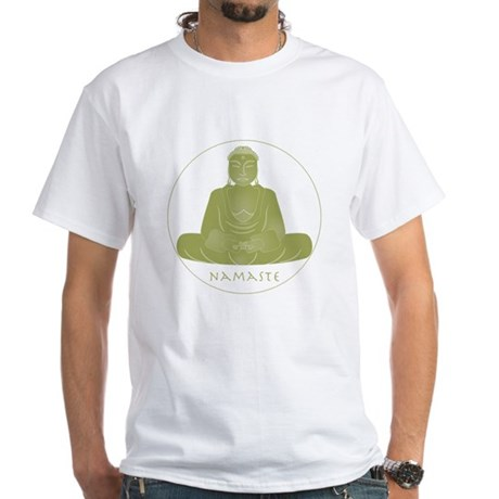 Yoga Buddha 2 White T-Shirt