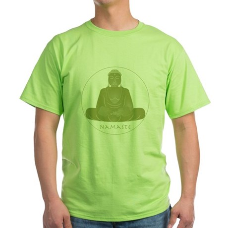 Yoga Buddha 2 Green T-Shirt