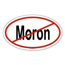 MORON Oval Decal