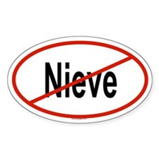 NIEVE Oval Decal