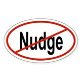 NUDGE Oval Decal