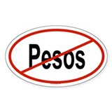 PESOS Oval Decal