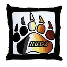 BEAR PRIDE PAW/HUGZ Throw Pillow